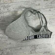 Cacique Womens Bra Size 38D Gray Boost Plung Cotton Spandex