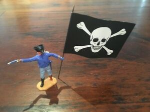 Timpo Pirate Conversion - Jolly Roger Flag/ Wooden Leg