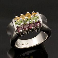 KLS Katja Lührs multicolor Ring Silber Rhodolith Peridot Citrin 16/50 Damenring