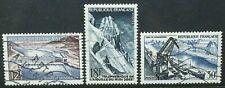 FRANCE 1956 Technical Achievements: Bridge, Port. Set of 3 Fine USED SG1303/1305