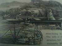 ephemera 1893 picture on the thames near pangbourne