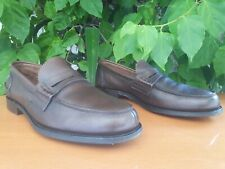 550€ Church's Pembrey Men's Brown Leather Slip On Loafers Size US 10 UK 9 G