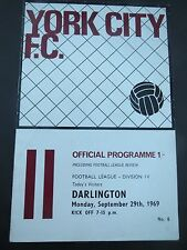 York City V Darlington  1969/0