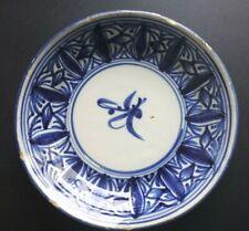 Ancienne assiette faience Talavera 18th Old plate blue spanish XVIII