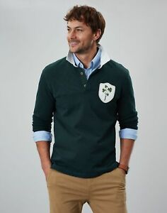 Joules Mens Honour Rugby Shirt - Racing Green - M