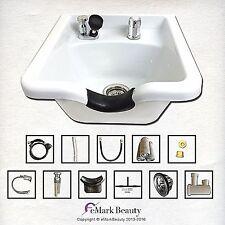 Square Shampoo Bowl White ABS Plastic Shampoo Sink Salon Equipment TLC-W11 KSGT