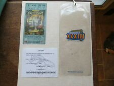 Two Super Bowl 33 Ticket Cases and Lanyards