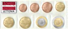 LETTONIA  EURO 2014 SERIE COMPLETA 8 MONETE ANNI MISTI FDC DA ROLLS