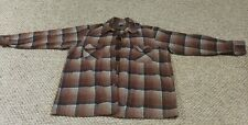 Pendelton mens Xl board shirt button front wool plaid vintage 70s USA hipster