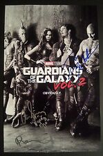 GUARDIANS OF THE GALAXY 2 Cast (x5) Authentic Hand-Signed GAMORA 11x17 Photo