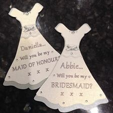 'Will You Be My Bridesmaid?' Maid Of Honour,FlowerGirl Personalised Dress Magnet