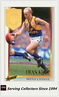 1995 Select AFL Series 1 Medal Card MC3 Dean Kemp (West Coast) (1994 Norm Smith)