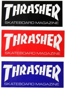"Thrasher sticker 2.5"" or 4.5"" FREE J&J'S STICKER"