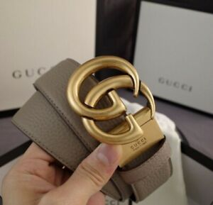 Gucci Leather Belt Men And Women 110Cm GG Designer Belt