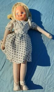 Vintage 1940's Cloth & Sawdust Filled Doll From Poland