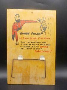 Retro 1960's Toilet Paper Holder Gag Gift TP Hoarder Hillbilly Secret Santa