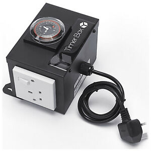 Hydroponics Black Box 2 Way Contactor Relay Built In Timer Switch UK