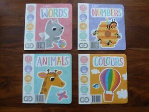SET OF 4  BOOKS FOR EARLY LEARNING BABY AND TODDLERS.