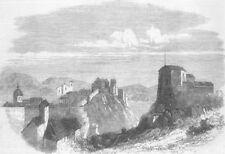 DUBROVNIK. Dalmatia. View from Borgi Pille Suburb, antique print, 1870