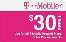T-Mobile $30 Refill Card + FREE T-Mobile SIM Card Activation Kit