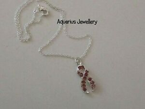 BREAST CANCER AWARENESS RIBBON CHARM NECKLACE FREE GIFT BOX