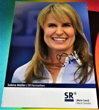 Sabine Müller - SR 1 Fernsehen - Moderatorin - Karte mit Original-Autogramm