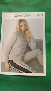 knitting pattern for  ladies dk  cardigan size 28 to 46