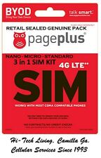 Genuine Page Plus Nano Micro Standard 3 in 1 Sim Card 4G Data Prepaid All Plans