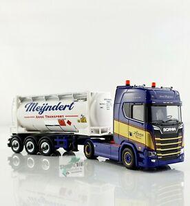 Herpa 312813 Scania CS 20 HD Swapcontainer-Sattelzug Mijndert / Anne 1:87