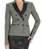 BCBG MAX AZRIA $258 Clifford Jacquard Double Breasted Ponte Jacket Top Size XS