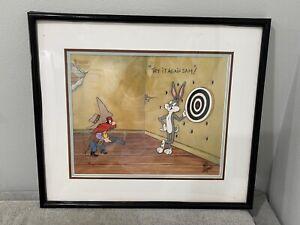 Fritz Freleng Signed Warner Bros Animation Cel Try It Again Sam ! Bugs Bunny