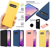For Samsung Galaxy S10e Hybrid Liquid Silicone Soft Rubber Shockproof Case Cover