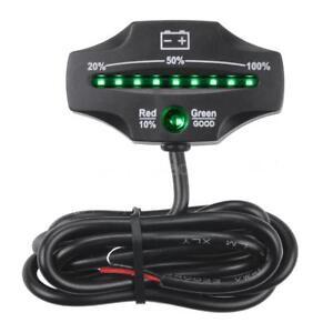 12V 24V LED Lead Acid Storage Battery Indicator Battery Level Monitor Meter L6U1