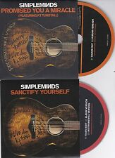 SIMPLE MINDS 2 RARE PROMO CD'S [SANCTFY YOURSELF / PROMISED YOU A MIRACLE]