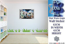 Lego Wall Sticker Star Wars 3d Effect Children's bedroom decal large
