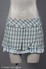 GUESS Jeans NWT woman's skirt size 26 blue brown tweed short sexy