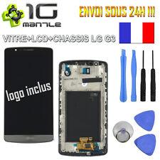 ORIGINAL VITRE TACTILE + ECRAN LCD SUR CHASSIS LG G3 D855/850 GRIS/NOIR + OUTILS