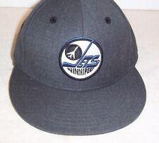 "Winnipeg Jets Vintage Hockey heather gray ""MITCHELL& NESS"" fitted cap 6 7/8 NWT"
