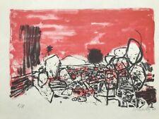 Guillaume Corneille (1922-2010) Rare sérigraphie Dans le Désert 1960 Cobra