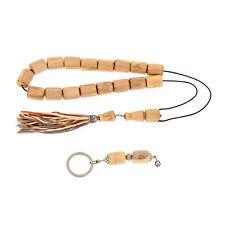 Orange-wood Set of Worry Beads or Komboloi & Key Holder Ring