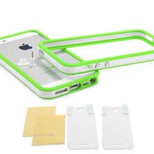 ? IPHONE 5 TPU Carcasa Funda Protector de Silicona Original Blanco, Verde