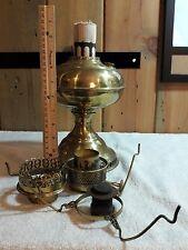 Vintage Antique Old Rayo Metal Oil Kerosene Lamp Lantern Brass