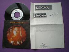 ENIGMA Mea Culpa Part II GERMANY 45 + SPANISH PROM0 SHEET 1991