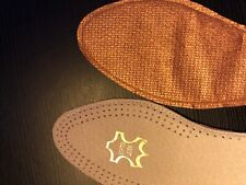 Pure Copper & Leather Insoles boost blood circulation,pain relief,sciatic pain