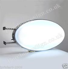 "LED Projecting 2 Sided Illuminated Oval Light Box Sign 50x100cm 20""x40"""