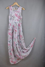 L301/64 French Connection Romantic Ethereal Floral Sleeveless Silk Dress, UK8