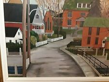 Canadian Artist, Landscape, Quebec Painting, Cityscape, Du Vieux Hull, Defayette