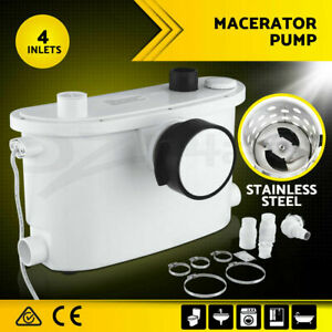 400W Genuine commercial Macerator Sewerage Pump 270L 4 inlets Toilet Disposal