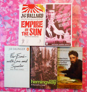Classic Writers Bundle // 5 Books (Ballard / Salinger / Hemingway / Doyle etc)