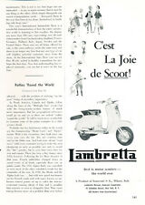 1959 Lambretta Scooter - Classic Vintage Advertisement Car Ad J20